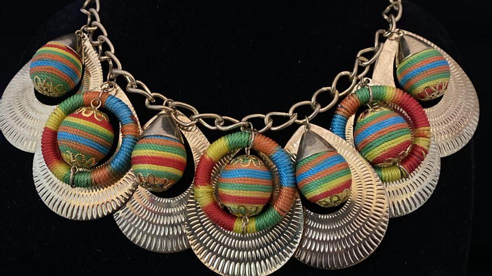 Gold String Beads Choker