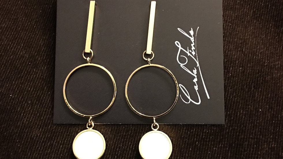 Line Circle Earrings