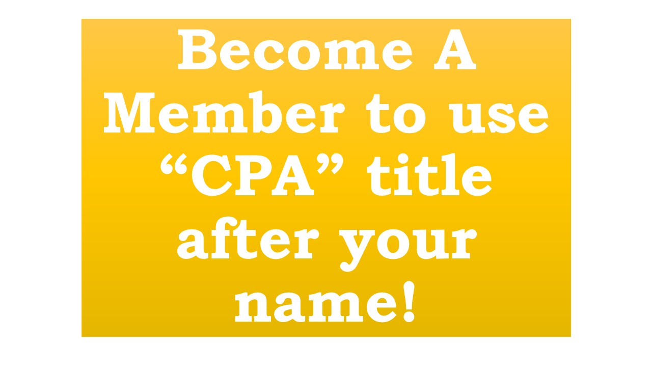 Become A CPA !