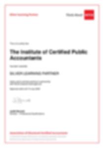 ACCA ALP Certificate of The Institute of cetified public accountats