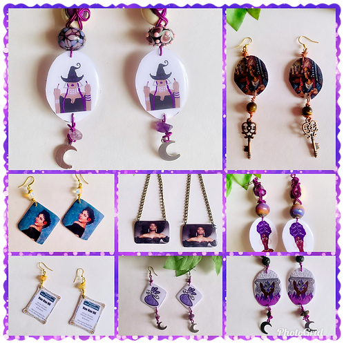 Black Girl Magic Resin Earrings/Conjure Icons