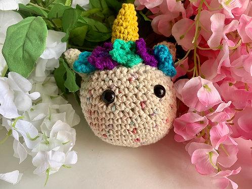 Crochet Unicorn Gris-Gris Keychain