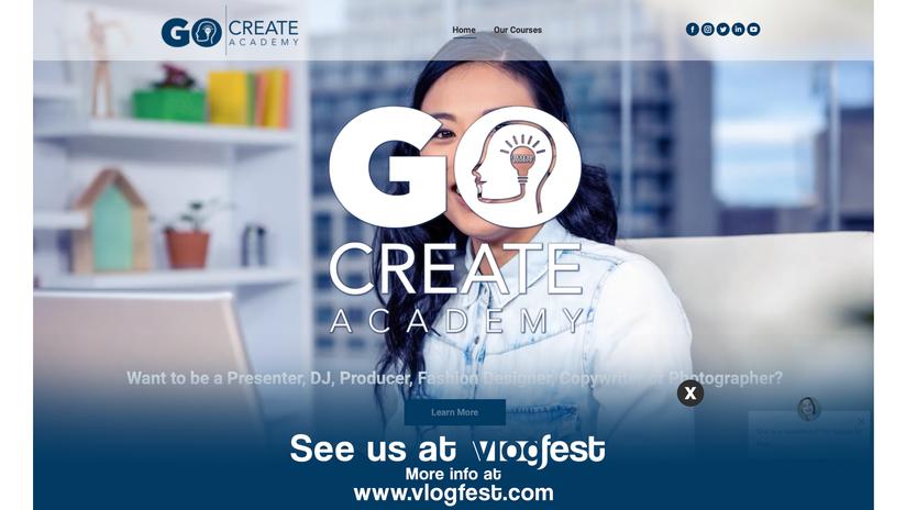 GoCreateAcademy Website Ad
