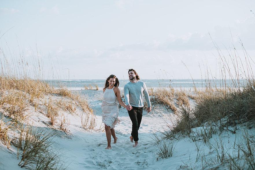 Romantic Wedding on beach in Savannah, GA.