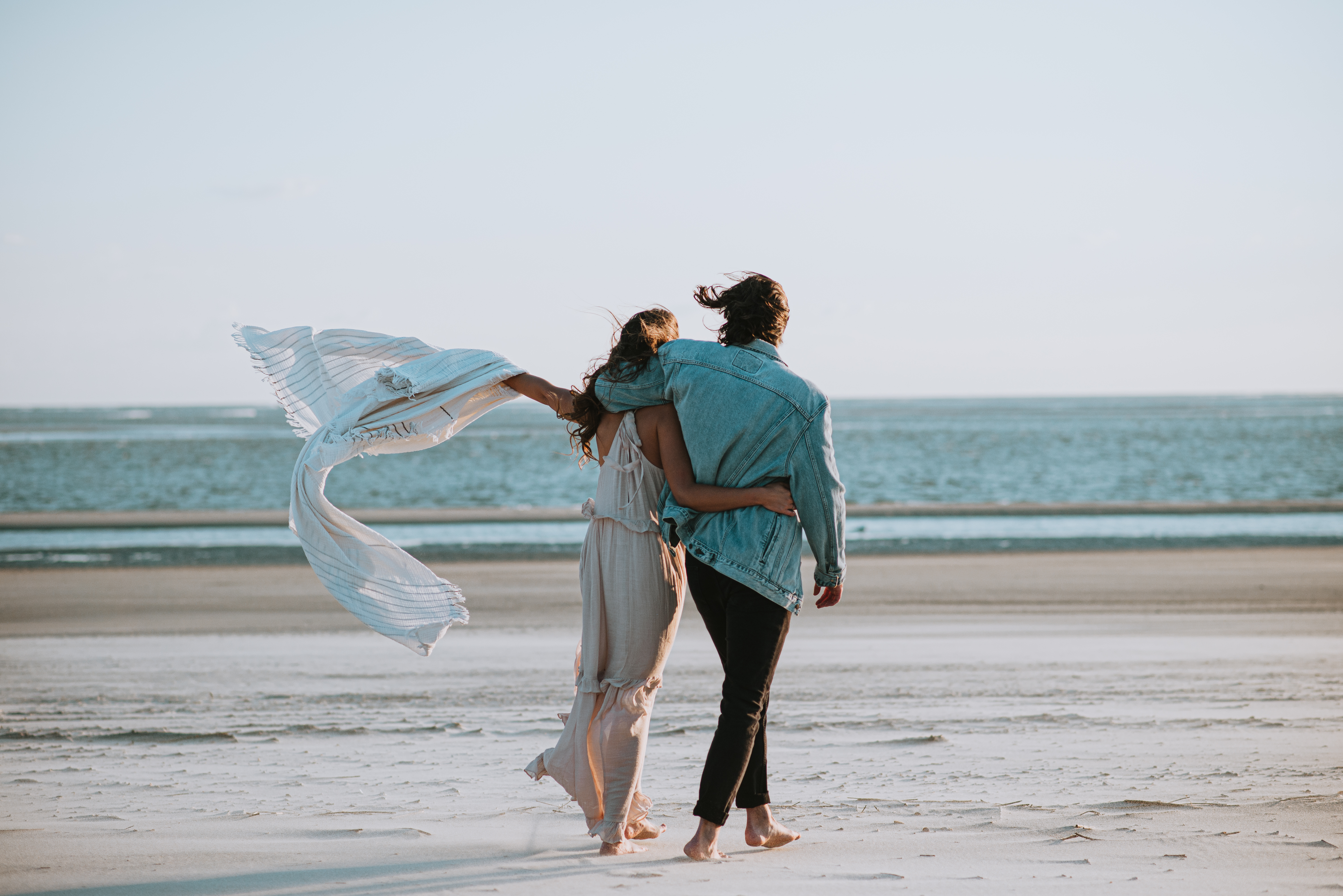 Tybee Island engagement photos on beach