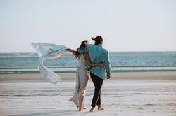 Tybee Island engagement photos on beach