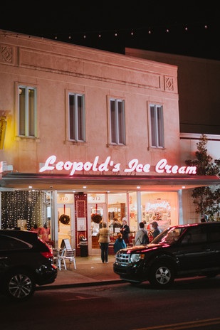 Leopold's Ice Cream Shop During Busy Hour