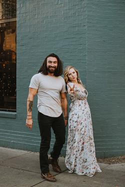 Laughing engagement photos in Savannah,GA