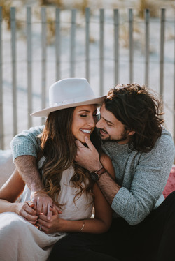 Romantic modern engagement photos in Savannah, GA