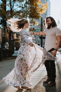 Dancing engagement photos in Savannah, GA