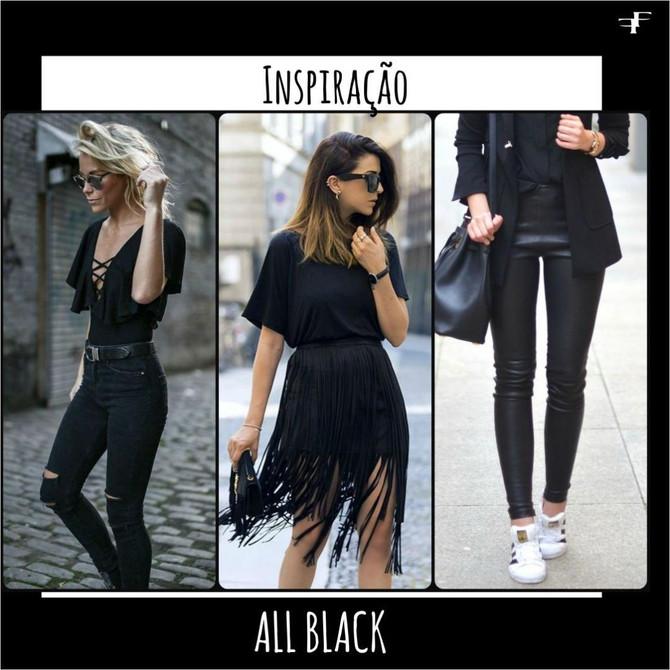 All black: como usar o look todo preto