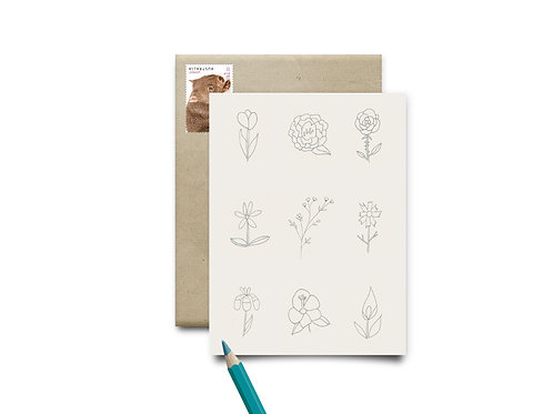 Mindful Colouring Postcards