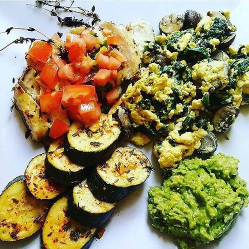 Single Meal Plan (Dinner serves 1 individual 5 meals per week)