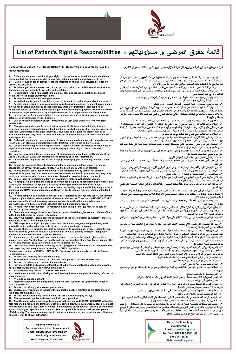 حقوق و واجبات المرضى