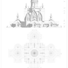 эск хр Дм Донского КРЕСТ план и фасад А1