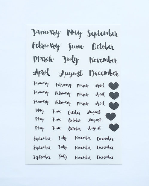 TELL ME YOUR MONTH