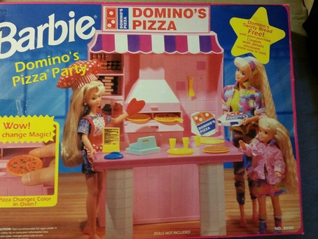 Domino's Pizza Party With Barbie