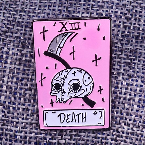Death XIII Tarot Readers Gift Occult Goth Wiccan Pin Badge