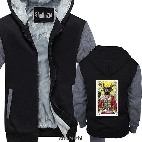 The Magician Tarot Card Art Logo  Black Cool Casual Hoodie/jacket Unisex