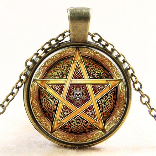 Art Handmade Esoteric Pentagram Necklace Pentacle Pendant