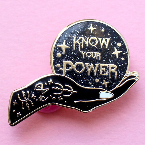 Feminist Girl Power Witch Enamel Pin Witchy Badge