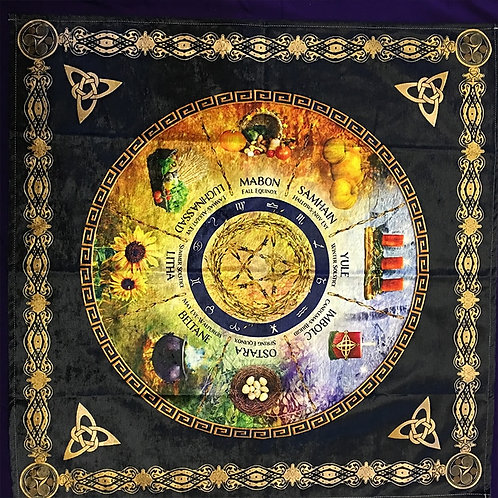 Ceremony Astrology Cloth tablecloth Altar Wicca Table Cloth Divination Sabbats