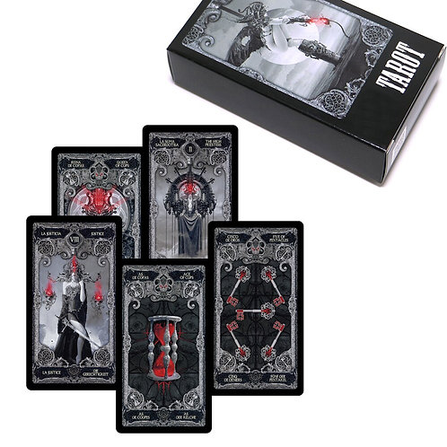 2020 XIII Dark Tarot Cards Deck English Spanish French German