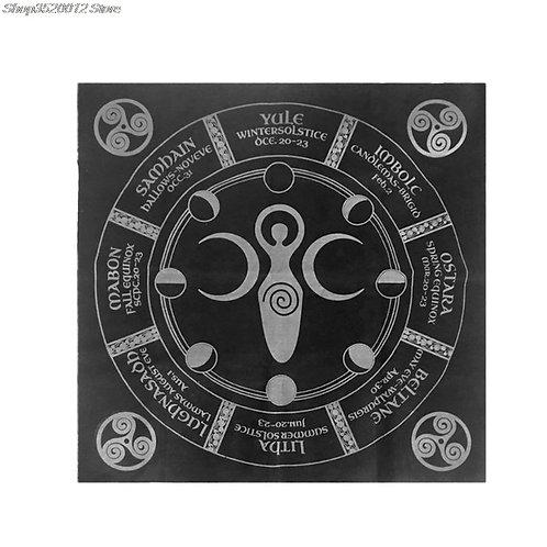 49x49cm Tarot Tablecloth Triple Moon Pentagram Tarot Cloth Flannel Hot