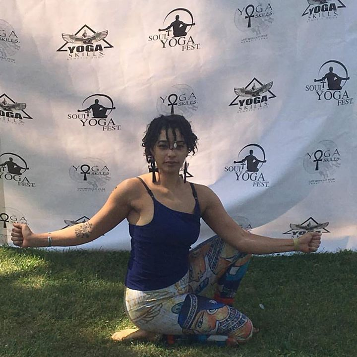 Pose of immortality ! #KemeticYoga #SoulYogaFest #Chicago #BlackYogi