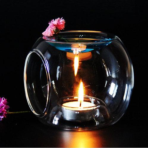 Glass Fragrance Aroma Oil Burner Tealight Holder Candle Wax  Warmer