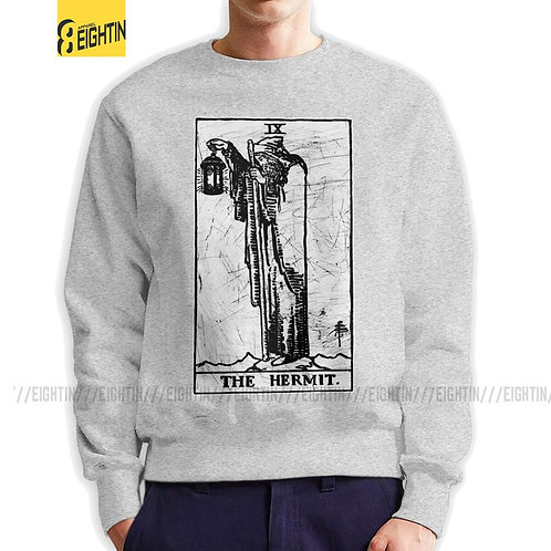 Hermit Tarot Card Major Arcana Fortune Telling Sweatshirt  Cotton Pullover