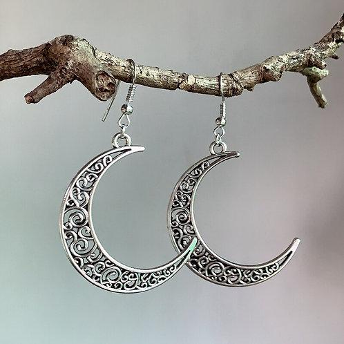 Celtic Crescent Moon GODDESS earrings