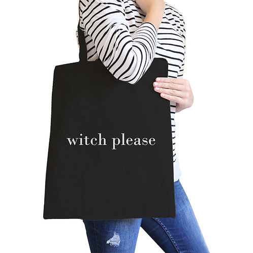 Witch Please Black Canvas Bags
