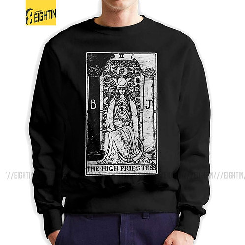 High Priestess Tarot Card Major Arcana  100% Organic Cotton Pullovers