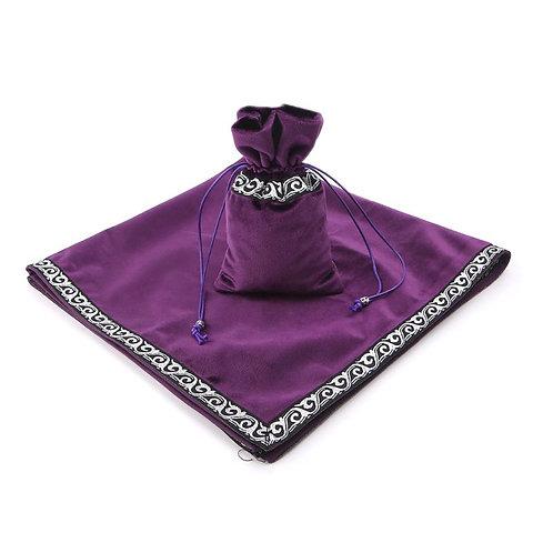 New Velvet Tarot Tablecloth Divination Altar Tarot Cards Bag