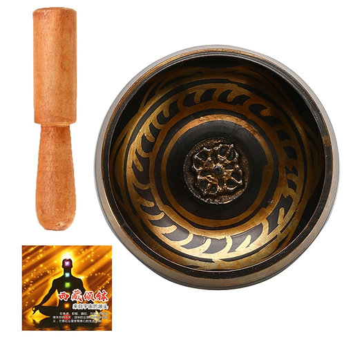 Tibetan Singing Bowl  Meditation Bell Hand Hammered  Yoga Copper Chakra Healing
