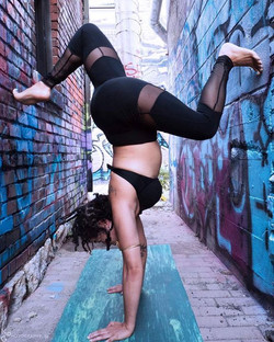Get creative in tight spaces! Overcome life's obstacles #BeforeSeries #YogaEverywhere