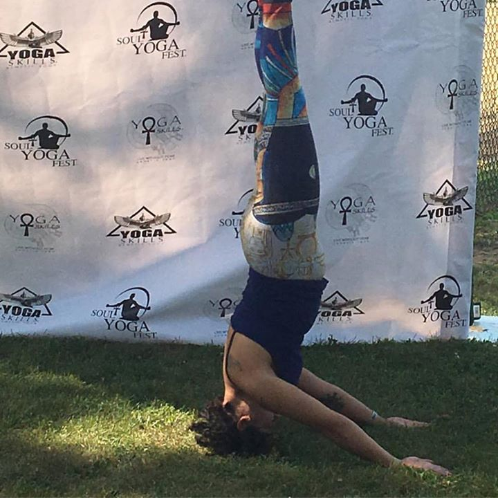 Headstands everywhere!! #KemeticYoga #SoulYogaFest #Chicago #BlackYogi