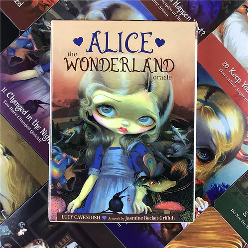 Alice the Wonderland Oracle Cards Deck  Divination Fate Tarot Cards