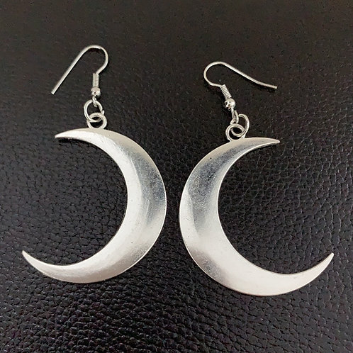 Crescent Earrings Mysterious Moon Witch Energy