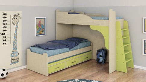 Двухъярусная кровать детская Халомит 6
