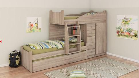 Двухуровневые детские кровати Халомит 2