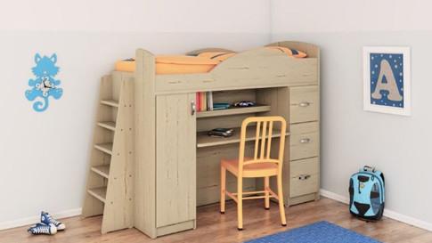 Двухъярусная кровать с письменным столом А255
