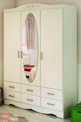 Шкаф трехстворчатый с зеркалом модель 388