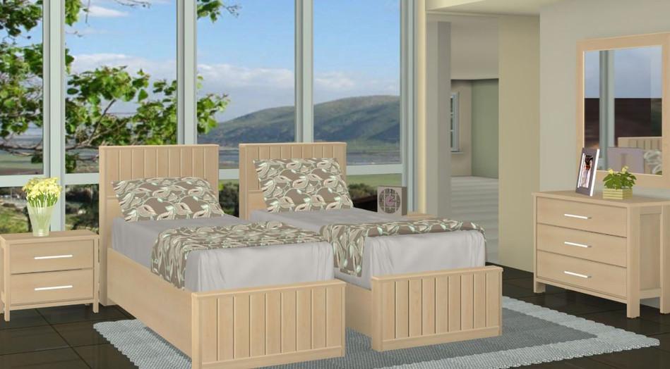 Раздельная кровать модель Цлиль