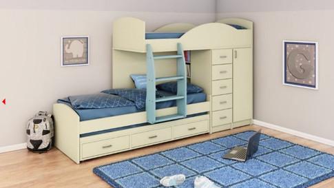 Двухъярусная кровать для детей. Модель 253
