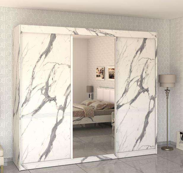 Шкаф купе с зеркальными дверями