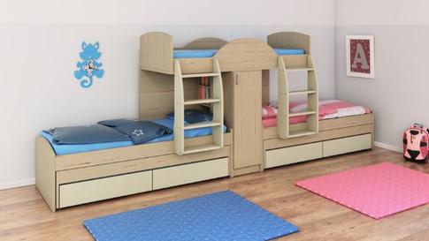 Двухъярусная кровать детская  Халомит 7