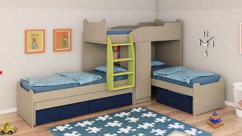 Двухуровневые детские кровати Халомит 5