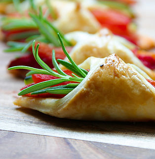 Intense tomato and grilled veg puff past
